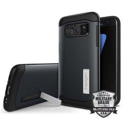 Чехол-накладка для Samsung Galaxy S7 Edge (Spigen Slim Armor 556CS20025) (металлический)