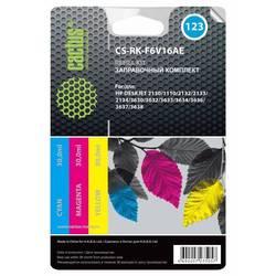 Заправочный набор для HP DeskJet 2130, 1110, 2132, 2133, 2134, 3630 (Cactus CS-RK-F6V16AE) (трехцветный) (3х30 мл)