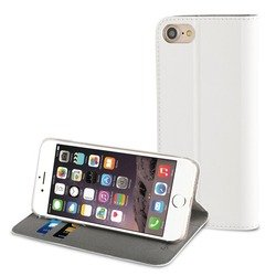 чехол-книжка для apple iphone 7 (muvit folio stand mufls0046) (белый)
