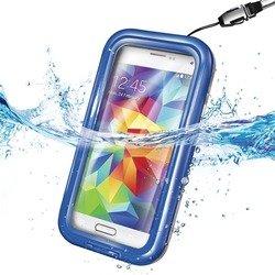 """Универсальный водонепроницаемый чехол для телефонов 4.5-5.5"""" (Celly WPCSAM02) (синий)"""