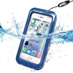 """Универсальный водонепроницаемый чехол для телефонов до 4.7"""" (Celly WPCIPH02) (синий)"""
