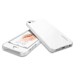 клип-кейс для apple iphone se,5s,5 spigen thin fit (041cs20169) (белый)