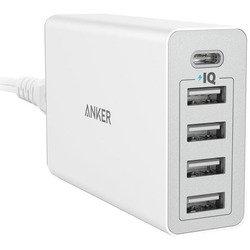Универсальное сетевое зарядное устройство 4хUSB, 1хUSB-С (Anker A2053321) (белый)
