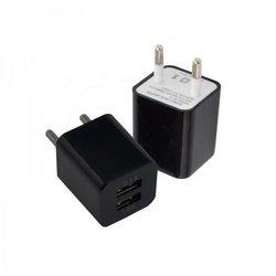 Универсальное сетевое зарядное устройство 2хUSB, 2A (Oxion ACA-009) (черный)