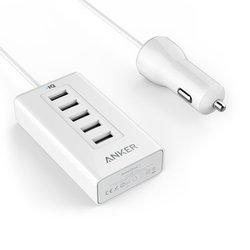 Универсальное автомобильное зарядное устройство Anker PowerDrive 5 (белый)