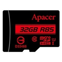 apacer microsdhc card class 10 uhs-i u1 (r85 mb/s) 32gb + sd adapter