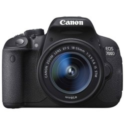Canon EOS 700D Kit (black 18Mpix 18-55 IS STM 3 1080p SDHC turLCD, ����� � ���������� LP-E8)