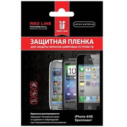 защитная пленка для iphone 4 / 4s red line (бриллиант)