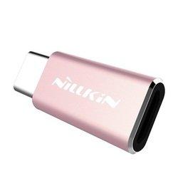 Переходник microUSB - USB Type-C (Nillkin 874004Y0418) (розовый)