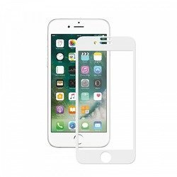 Защитное стекло для Apple iPhone 7 (Deppa 3D 62036) (белое)
