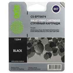 картридж для epson stylus photo cactus cs-ept0074 (черный)