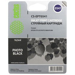 картридж для epson stylus photo r800, r1800 cactus cs-ept0541 (черный)