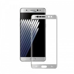 Защитное стекло для SamsungGalaxyNote 7 (Deppa 3D 62030) (серебристое)