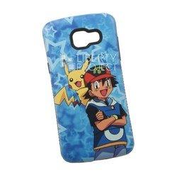 Чехол-накладка для Samsung Galaxy A5 2016 (Pokemon Go, синий) (0L-00029417)