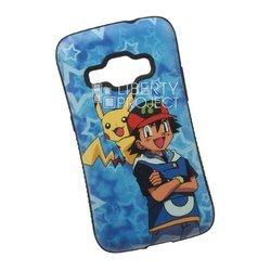 Чехол-накладка для Samsung Galaxy J1 2016 (Pokemon Go, синий) (0L-00029418)
