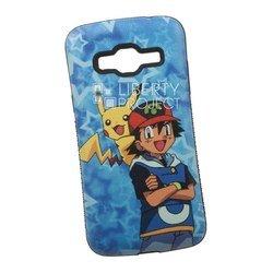 Чехол-накладка для Samsung Galaxy J3 2016 (Pokemon Go, синий) (0L-00029423)