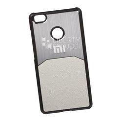 Чехол-накладка для Xiaomi Mi4S с кожаной вставкой (белый) (0L-00029244)