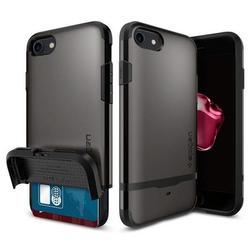 Чехол-накладка для Apple iPhone 7 (Spigen Flip Armor 042CS20775) (стальной)