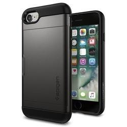 Чехол-накладка для Apple iPhone 7 (Spigen Slim Armor CS 042CS20453) (стальной)