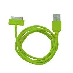 Кабель USB - 30-pin для Apple iPhone 3GS, 4, 4S, iPad 2, 3 new, iPod Nano 6, touch 4 (Human Friends Super Link Rainbow C) (зеленый)