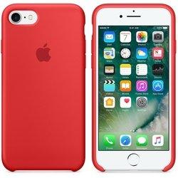 Чехол-накладка для Apple iPhone 7 (Apple Silicone Case MMWN2ZM/A) (красный)