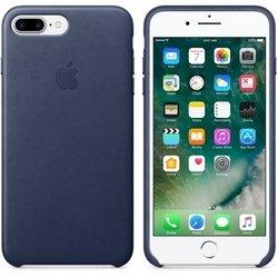 Чехол-накладка для Apple iPhone 7 Plus (Apple Leather Case MMYG2ZM/A) (темно-синий)