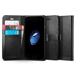 Чехол-подставка для Apple iPhone 7 (Spigen Wallet S Case 042CS20545) (черный)