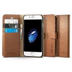 Чехол-подставка для Apple iPhone 7 (Spigen Wallet S Case 042CS20546) (коричневый)