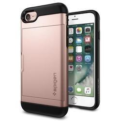 Чехол-накладка для Apple iPhone 7 (Spigen Slim Armor CS 042CS20454) (розовое золото)