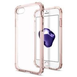 Чехол-накладка для Apple iPhone 7 (Spigen Crystal Shell 042CS20308) (кристально-розовый)