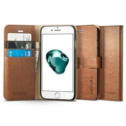 Чехол-подставка для Apple iPhone 7 Plus (Spigen Wallet S Case 043CS20544) (коричневый)
