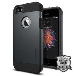 Чехол-накладка для Apple iPhone SE, 5S, 5 (Spigen Tough Armor 041CS20187) (металлический)