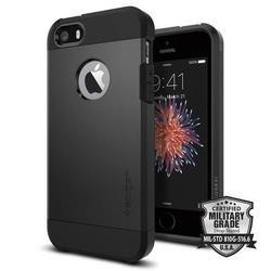 Чехол-накладка для Apple iPhone SE, 5S, 5 (Spigen Tough Armor 041CS20189) (черный)