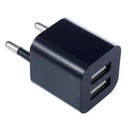 Сетевое зарядное устройство OXION OX-PC004BK 2хUSB, 2A (черный)