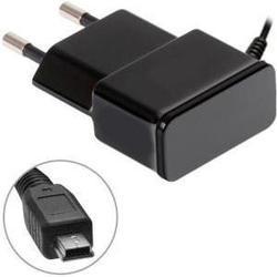 Сетевое зарядное устройство OXION OX-PC107BK miniUSB, 2.1A (черный)