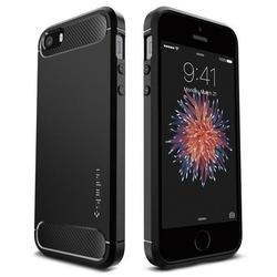 Чехол-накладка для Apple iPhone SE, 5S, 5 (Spigen Rugged Armor 041CS20167) (черный)