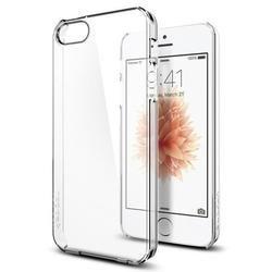 Чехол-накладка для Apple iPhone SE, 5S, 5 (Spigen Thin Fit 041CS20246) (кристально-прозрачный)