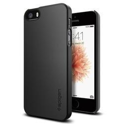 Чехол-накладка для Apple iPhone SE, 5S, 5 (Spigen Thin Fit 041CS20168) (черный)