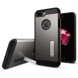 Чехол-накладка для Apple iPhone 7 Plus (Spigen Tough Armor 043CS20529) (стальной)