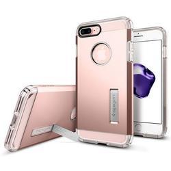 Чехол-накладка для Apple iPhone 7 Plus (Spigen Tough Armor 043CS20532) (розовое золото)