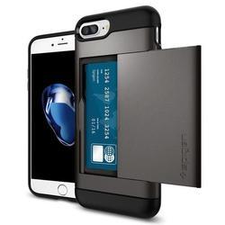 Чехол-накладка для Apple iPhone 7 Plus (Spigen Slim Armor CS 043CS20526) (стальной)