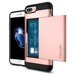 Чехол-накладка для Apple iPhone 7 Plus (Spigen Slim Armor CS 043CS20527) (розовое золото)