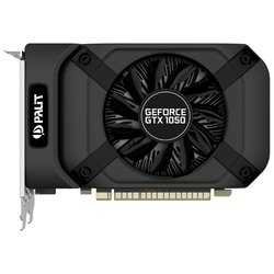 Palit GeForce GTX 1050 1354Mhz PCI-E 3.0 2048Mb 7000Mhz 128 bit DVI HDMI HDCP StormX RTL