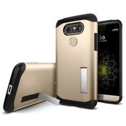 Чехол-накладка для LG G5 (Spigen Slim Armor A18CS20132) (шампань)