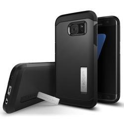 Чехол-накладка для Samsung Galaxy S7 Edge (Spigen Tough Armor 556CS20043) (стальной)