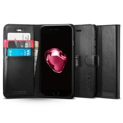 Чехол-подставка для Apple iPhone 7 Plus (Spigen Wallet S Case 043CS20543) (черный)
