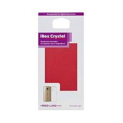 Силиконовый чехол-накладка для LG K3 (iBox Crystal YT000009307) (красный)