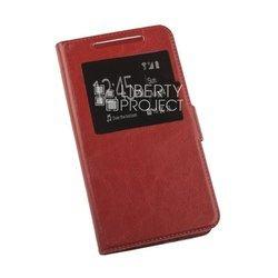Универсальный чехол-книжка для телефонов XXL (145x76 мм) (0L-00002581) (красный)