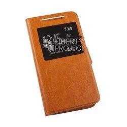 Универсальный чехол-книжка для телефонов XXL (145x76 мм) (0L-00002582) (оранжевый)