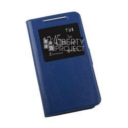 Универсальный чехол-книжка для телефонов XXL (145x76 мм) (0L-00002583) (синий)